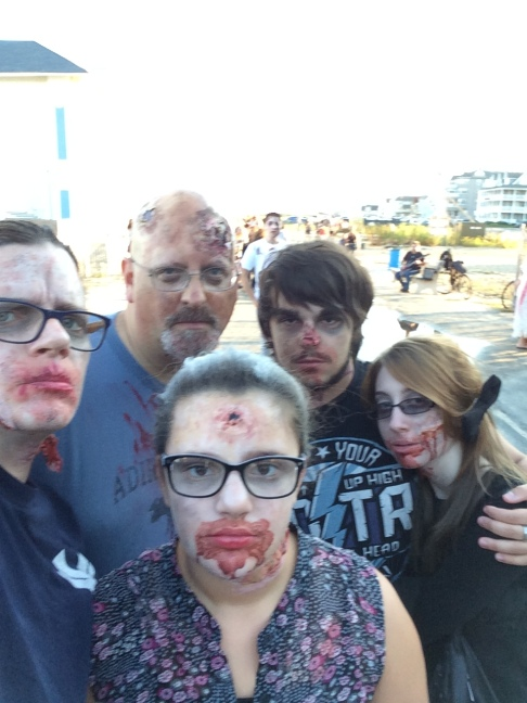 What family doesn't like to get all zombied up for the Asbury Park zombie walk??