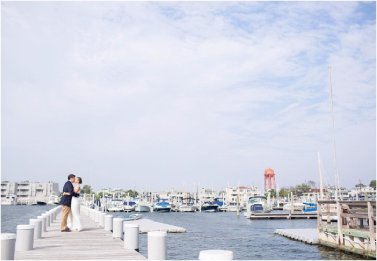 yacht club wedding portrait
