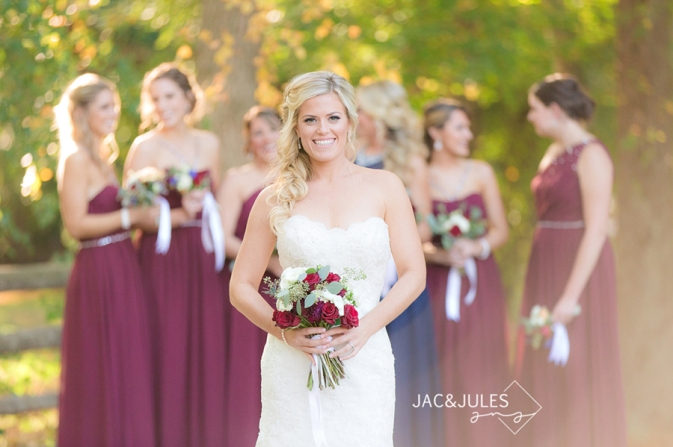 bridal portrait with organic wedding bouquet at Allaire State Park