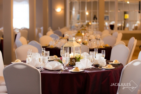 Gold lantern centerpiece