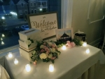 Welcome sign gift table