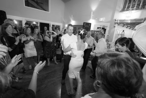 wedding reception at the Shelter Harbor Marina