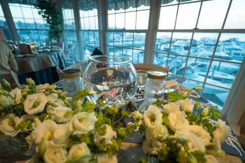 Fish ceremony wedding centerpiece