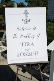 Rustic nautical welcome Sign