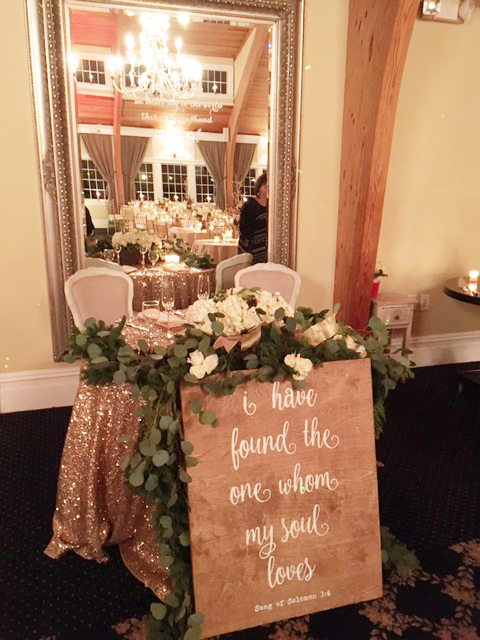 Bonnet Island Estate wedding sweetheart table