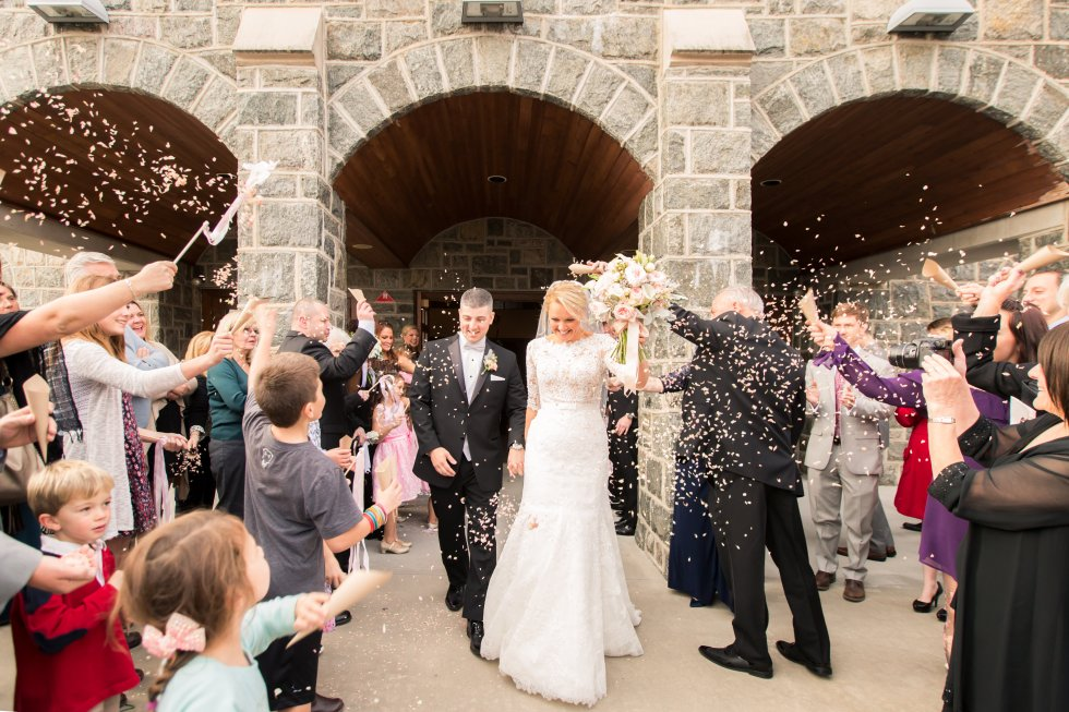 Grand Exit after getting married